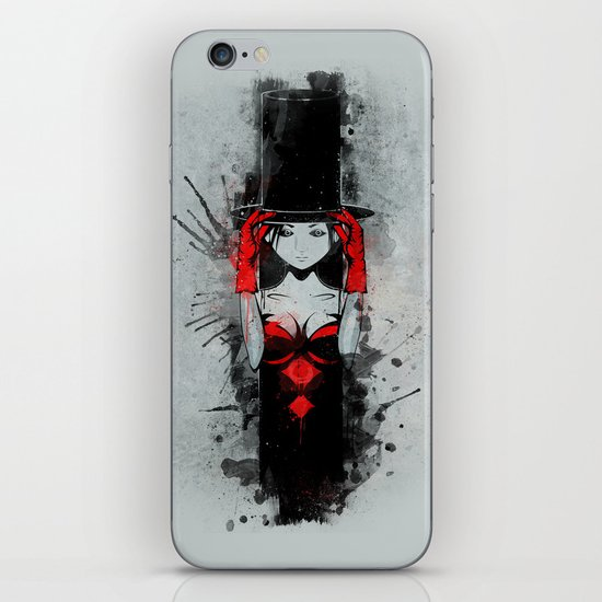 Top Hat Lady iPhone & iPod Skin
