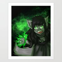 homestuck Art Prints featuring Homestuck: Grimbark Jade by EternalAshley225