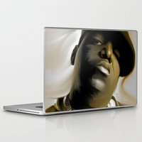 biggie smalls Laptop & iPad Skins featuring The Notorious B.I.G (Biggie Smalls) by darylrbailey
