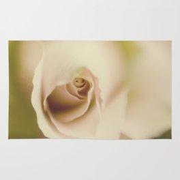 Centre of a pink rose Rug