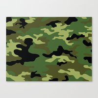 camo Canvas Prints featuring Camo by anhnt32