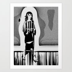 woman walking Art Print