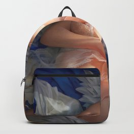 Super Pretty Blonde Sailor Moon Undressing Lingerie On Bed Ultra HD Backpack