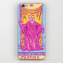 Justice - A Femme Tarot Card iPhone Skin