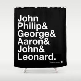 American Composers Shower Curtain