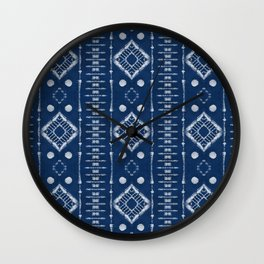 "Shibori Style ""Ladder"" Wall Clock"