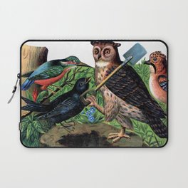 Vintage Owl with Shovel Laptop Sleeve