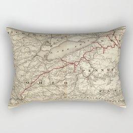 Map of the Erie Railroad (1869) Rectangular Pillow