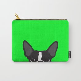 Boston Terrier Green Carry-All Pouch