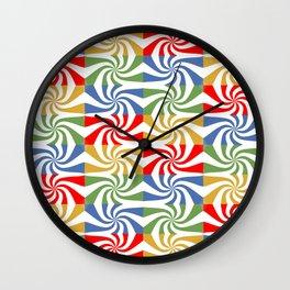 motif carré 5 Wall Clock