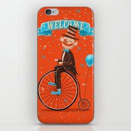 Penny-farthings circus iPhone Skin