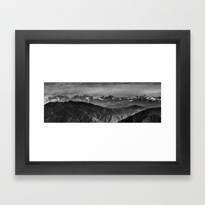 Himalayan Panorama Framed Art Print