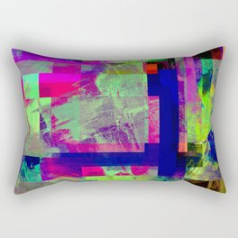 Pastel Geometry X - Abstract, goemetric, pastel coloured, textured artwork Rectangular Pillow