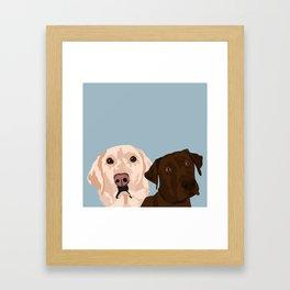 2 Labradors Framed Art Print