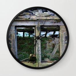Dilapidated Farm House Window Wall Clock