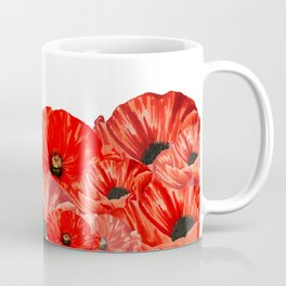 Poppies on White Coffee Mug