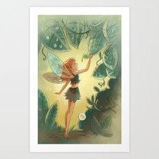 Goblins Drool, Fairies Rule! - Morning Dew Art Print