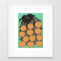 calendar 2015 Framed Art Prints featuring Sheep Calendar 2015 by Julia Kisselmann