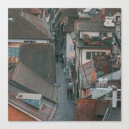 Zurich Alley Up Canvas Print