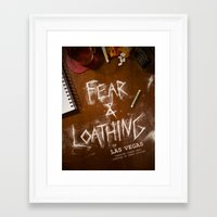 fear and loathing Framed Art Prints featuring Fear & Loathing by Madison Bracken