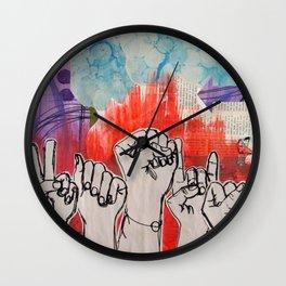 Crowds Wall Clock