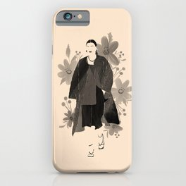 Fashion Blooms No.2 (Black) iPhone Case