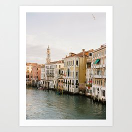Venice Grand Canal at Sunrise Art Print