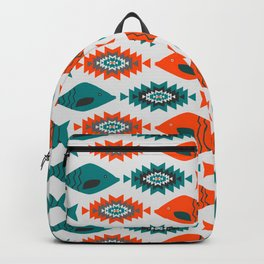 Ethnic pattern with fish Backpack