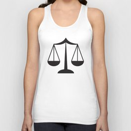 Law Scale Of Justice Women's Lawyer Office Occupation Career Law T-Shirts Unisex Tank Top