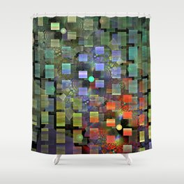Blocked and Unbound Shower Curtain