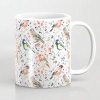 british Mugs featuring British Birds by Lauren Thomas Designs