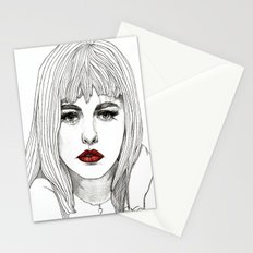 Patsy with Red Lips Stationery Cards