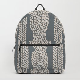 Cable Knit Grey Backpack