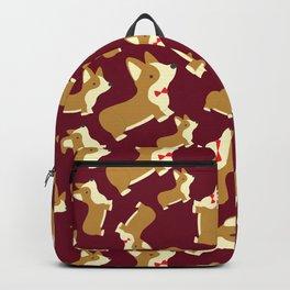 Corgi Love - Burgundy Backpack