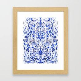 Indigo Folk paradise Framed Art Print