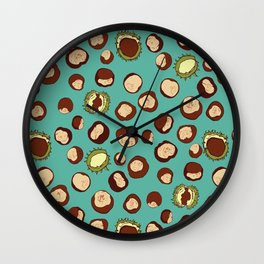 Chestnut seamless pattern Wall Clock