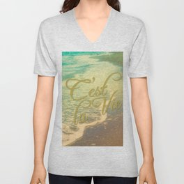 Beach Waves I - C'est La Vie Unisex V-Neck