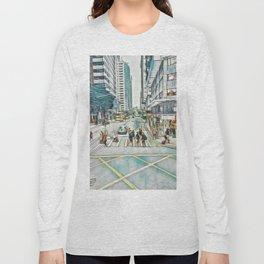 Textured Wan Chai Long Sleeve T-shirt