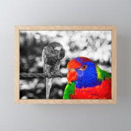 The bird in paradise Framed Mini Art Print