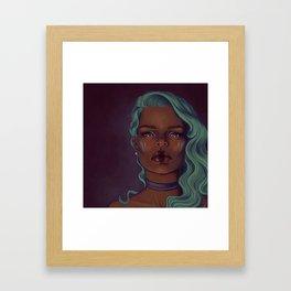 Steely eyes Framed Art Print