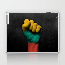 Lithuanian Flag on a Raised Clenched Fist Laptop & iPad Skin