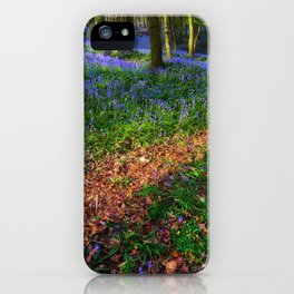 Bluebell Wood in Margam iPhone Case