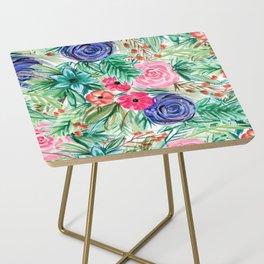 Watercolor Floral Bouquet No. 2 Side Table