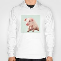 pig Hoodies featuring Pig by Dora Birgis