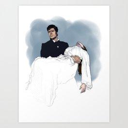 Heathcliff and Cathy Art Print