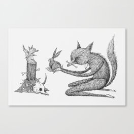 'Offering' - Grey Canvas Print