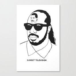 Sunset Television Stevie Eddie Canvas Print