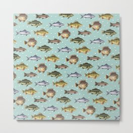 Watercolor Fish Metal Print