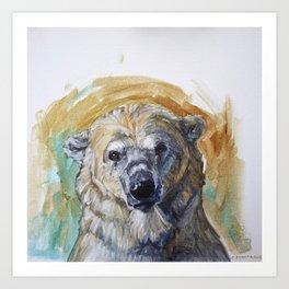 Polar Bear Portrait - Wistful Bear Art Print
