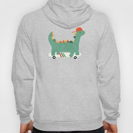 Dinosaur on retro skateboard Hoody